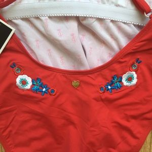 Juicy Couture Swim - Juicy Couture Embroidered One Piece Swimsuit NEW